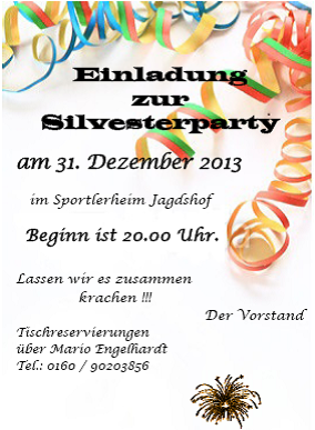Einladung Silvester'13